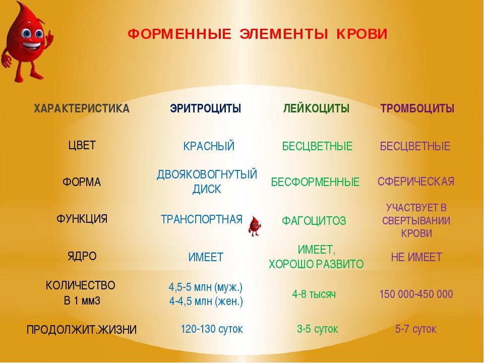 ФОРМЕННЫЕ ЭЛЕМЕНТЫ КРОВИ КРАСНЫЙ ДВОЯКОВОГНУТЫЙ ДИСК ТРАНСПОРТНАЯ ИМЕЕТ 4,5-5...