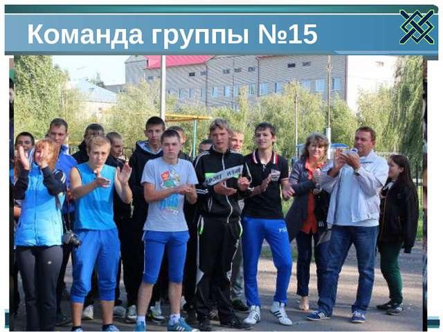 Команда группы №15