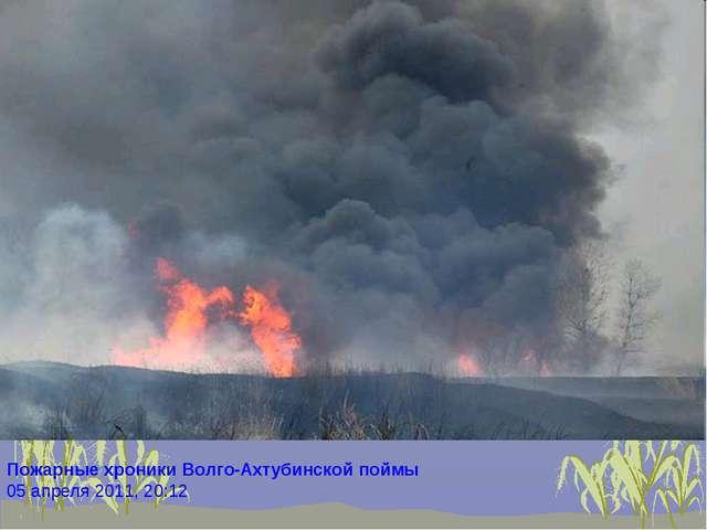 Пожарные хроники Волго-Ахтубинской поймы 05 апреля 2011, 20:12