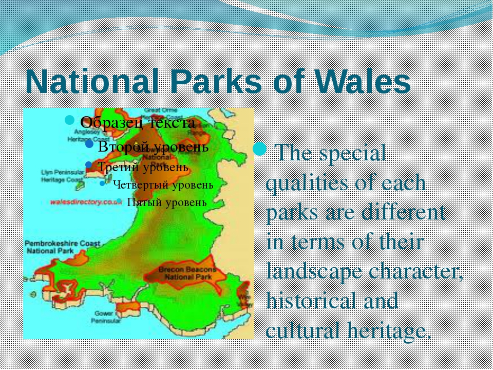 National Parks of Wales The special qualities of each parks are different in...
