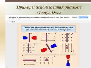 Примеры использования рисунков Google.Docs