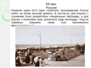 XX век. Россия Развитие науки 20-го века, позволило газоноведению России выйт