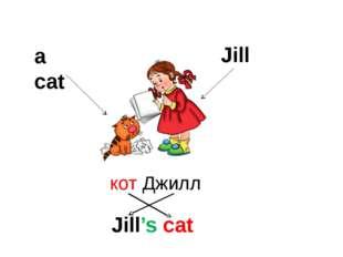 a cat Jill Jill's cat кот Джилл