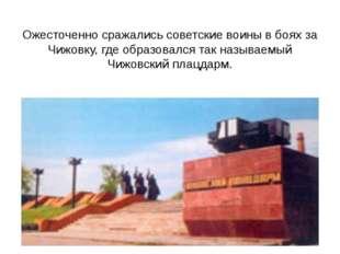 Ожесточенно сражались советские воины в боях за Чижовку, где образовался так