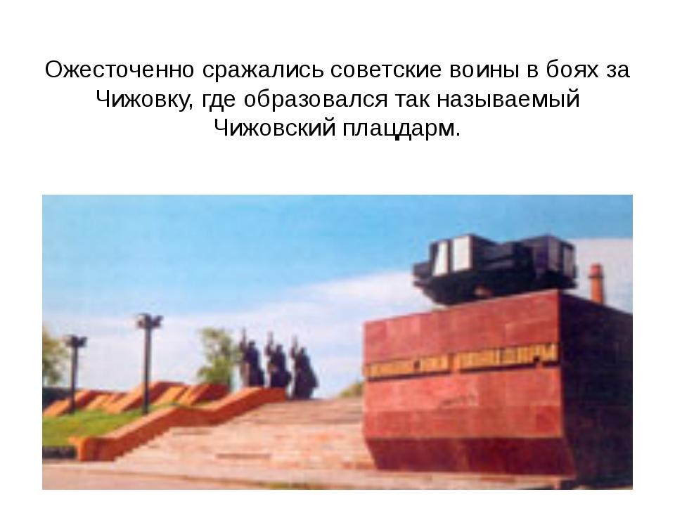 Ожесточенно сражались советские воины в боях за Чижовку, где образовался так...