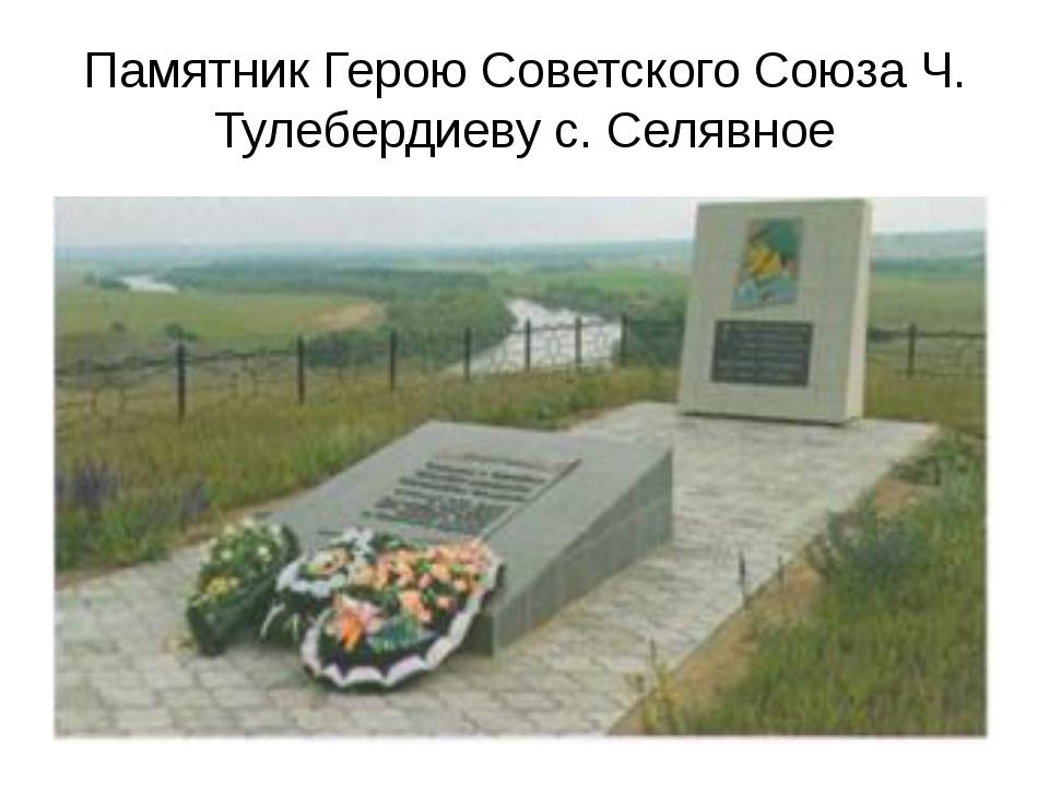Памятник Герою Советского Союза Ч. Тулебердиеву с. Селявное