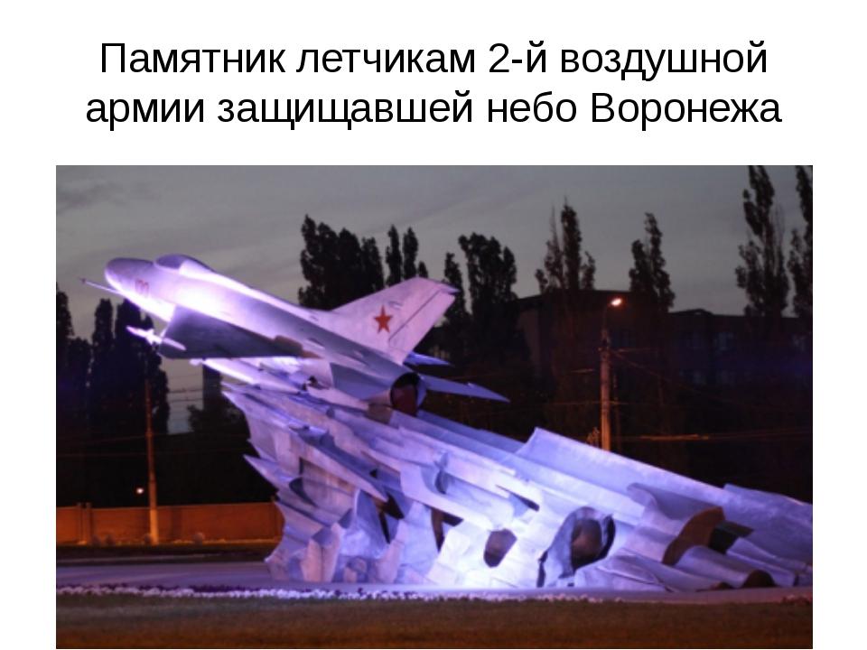 Памятник летчикам 2-й воздушной армии защищавшей небо Воронежа