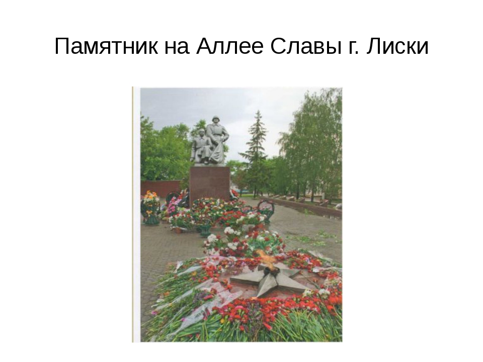 Памятник на Аллее Славы г. Лиски