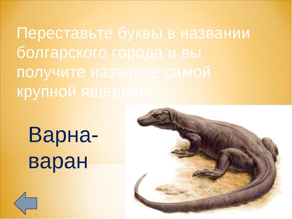 Переставьте буквы в названии болгарского города и вы получите название самой...