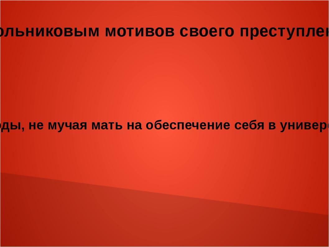 Объяснение самим Раскольниковым мотивов своего преступления в разговоре с Сон...