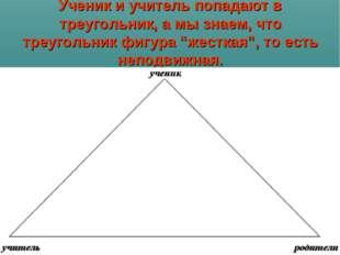 """Ученик и учитель попадают в треугольник, а мы знаем, что треугольник фигура """""""