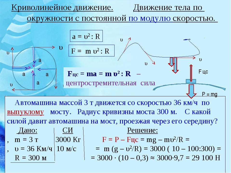 Криволинейное движение. Движение тела по окружности с постоянной по модулю ск...