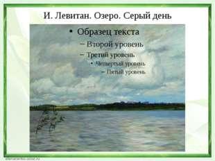 И. Левитан. Озеро. Серый день