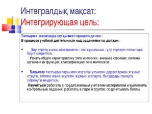 Интегралдық мақсат: Интегрирующая цель: Тапсырма жасағанда оқу қызметі процес