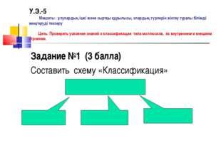 У.Э.-5 Мақсаты : ұлулардың ішкі және сыртқы құрылысы, олардың түрлерін жіктеу