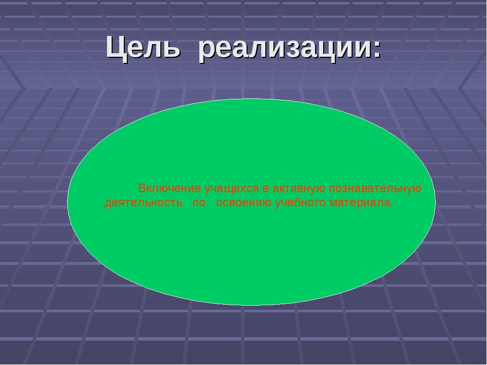 Цель реализации: Включение учащихся в активную познавательную деятельность по...