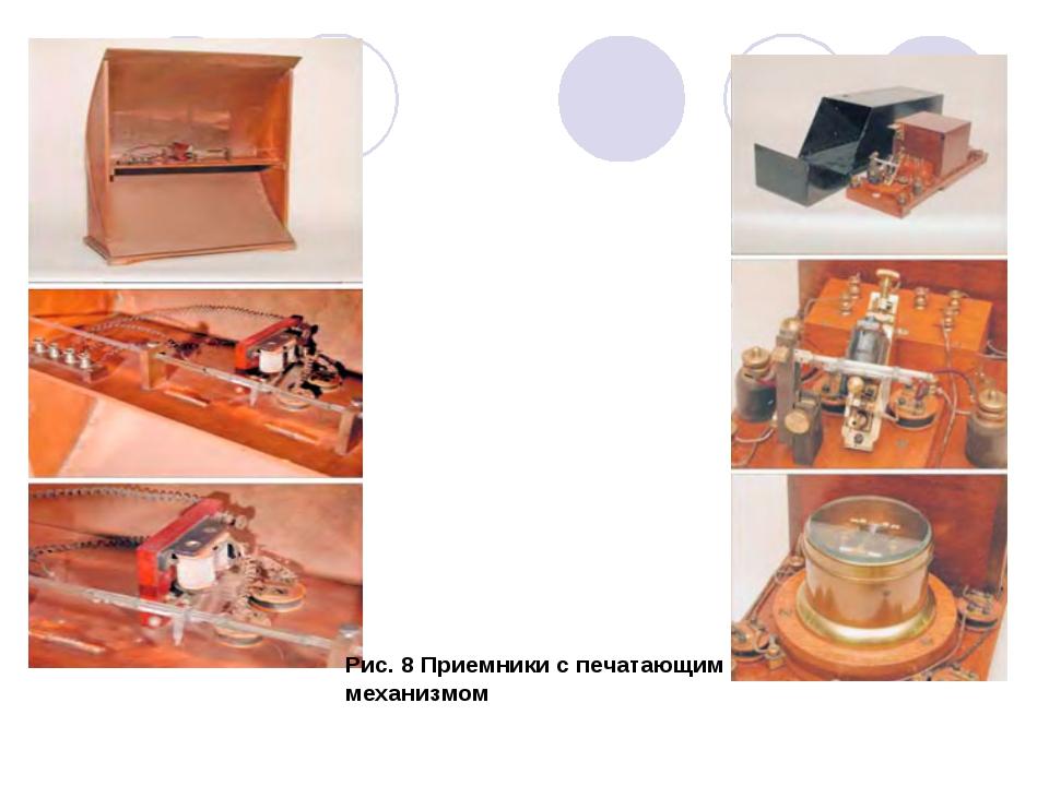 Рис. 8 Приемники с печатающим механизмом
