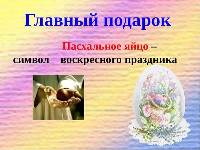 Главный подарок Пасхальное яйцо – символ воскресного праздника