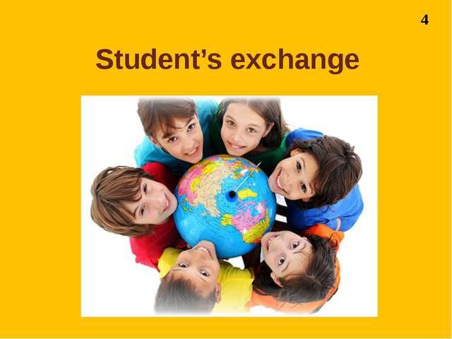 Student's exchange 4