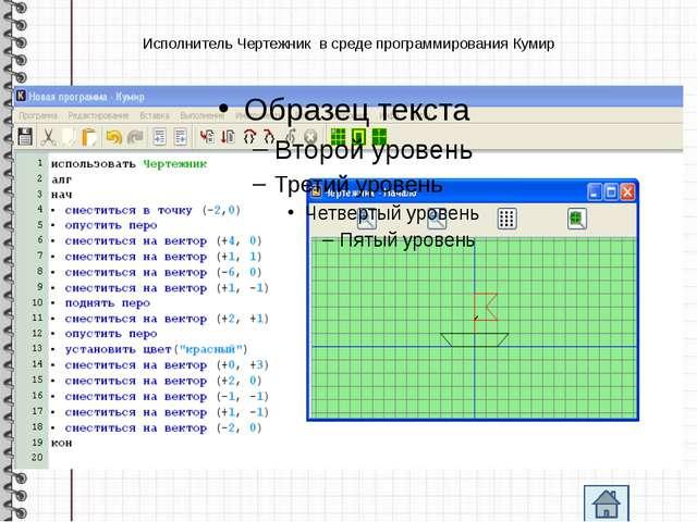 Исполнитель Чертежник в среде программирования Кумир