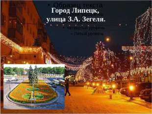 Город Липецк, улица З.А. Зегеля.