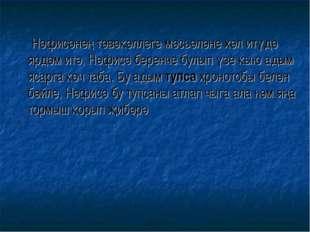 Нәфисәнең тәвәкәллеге мәсьәләне хәл итүдә ярдәм итә, Нәфисә беренче булып үз