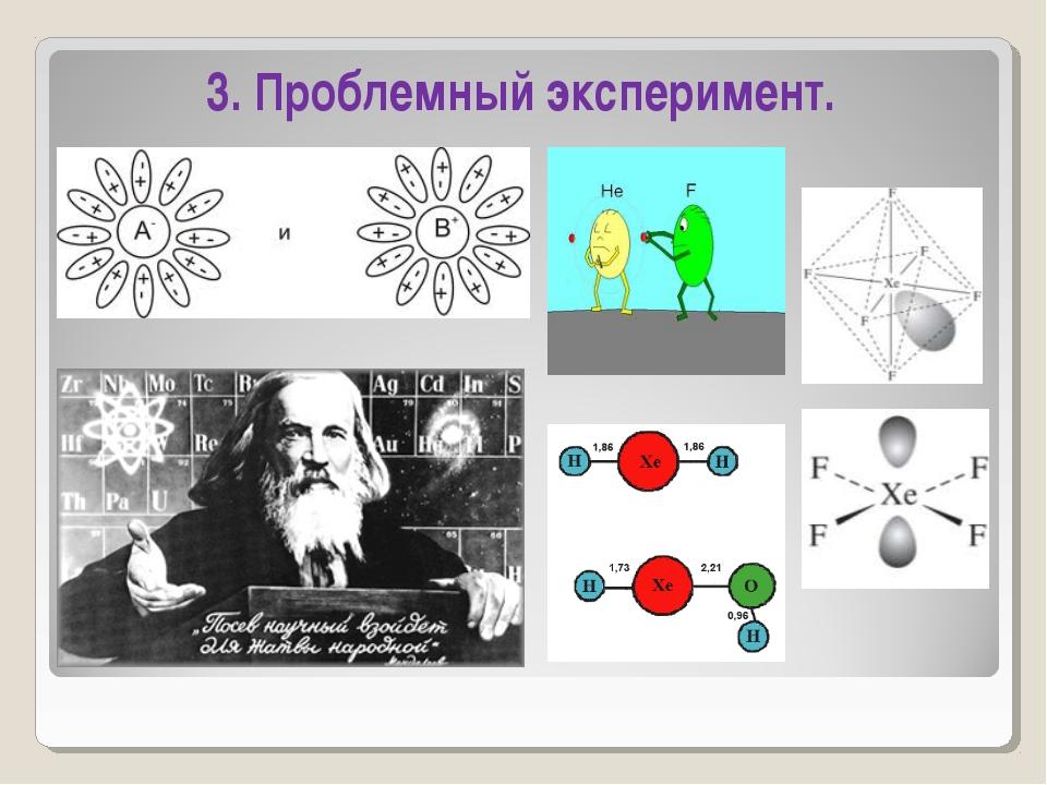3. Проблемный эксперимент.