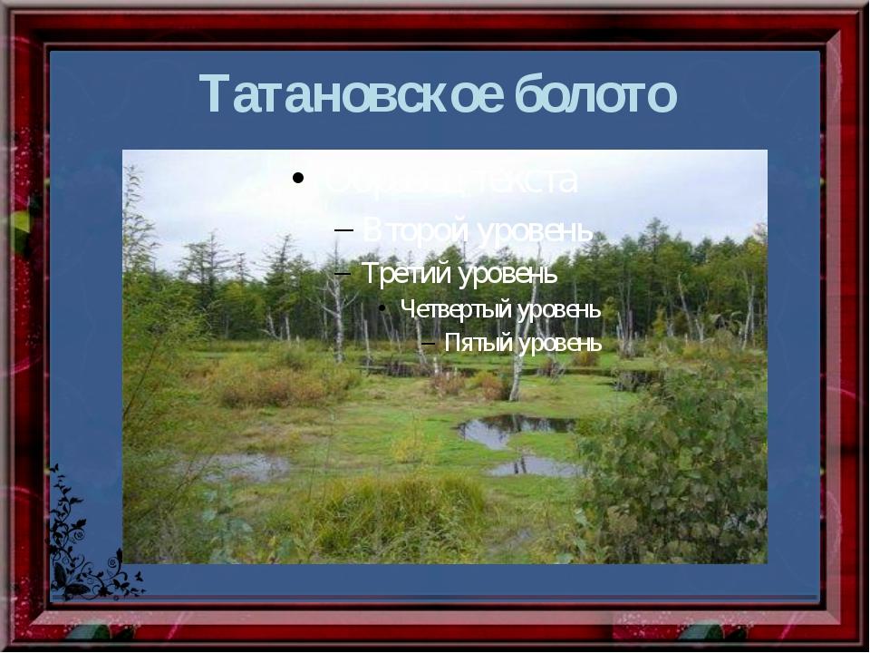 Татановское болото