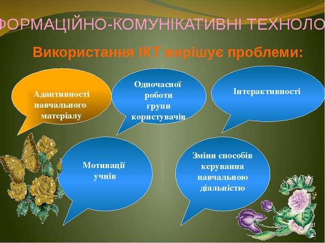 Використання ІКТ вирішує проблеми: Адаптивності навчального матеріалу Інтерак...