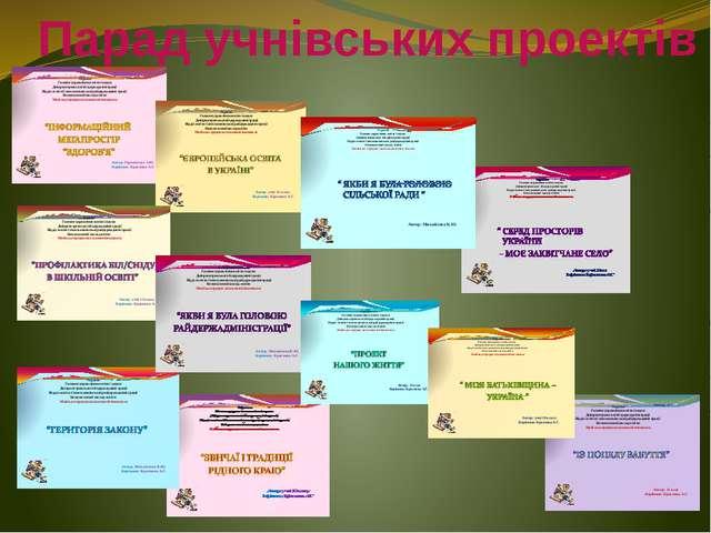 Парад учнівських проектів