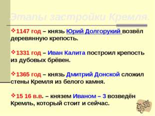 Москва На окраине Владимиро – Суздальской земли возникло небольшое поселение