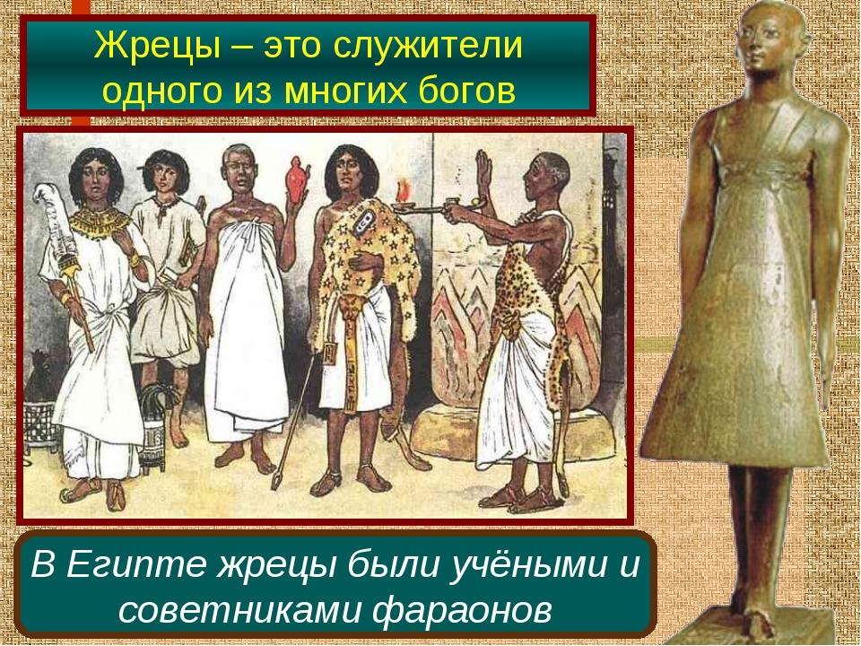 Жрецы – это служители одного из многих богов В Египте жрецы были учёными и со...