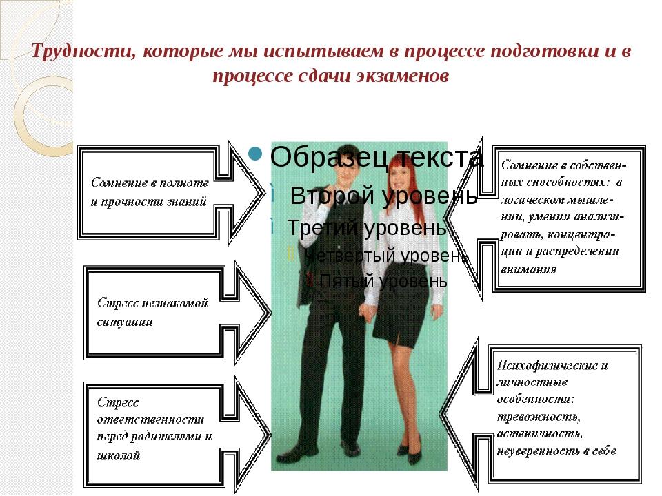 Трудности, которые мы испытываем в процессе подготовки и в процессе сдачи экз...