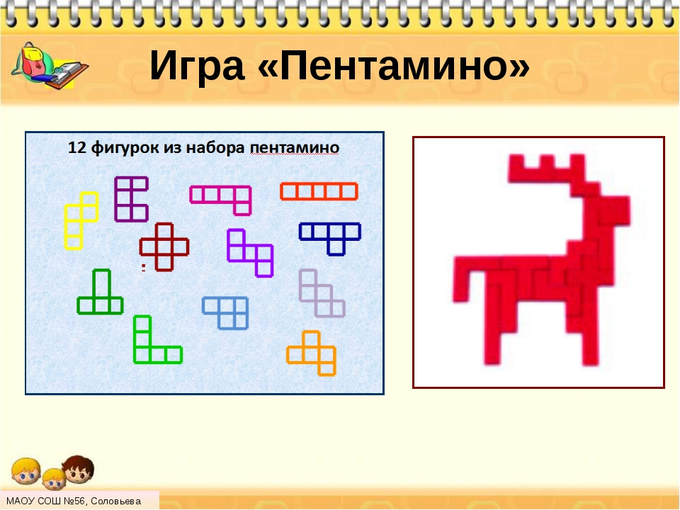 Игра «Пентамино» МАОУ СОШ №56, Соловьева Н.Л.