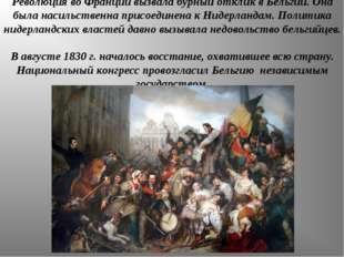 Революция во Франции вызвала бурный отклик в Бельгии. Она была насильственна