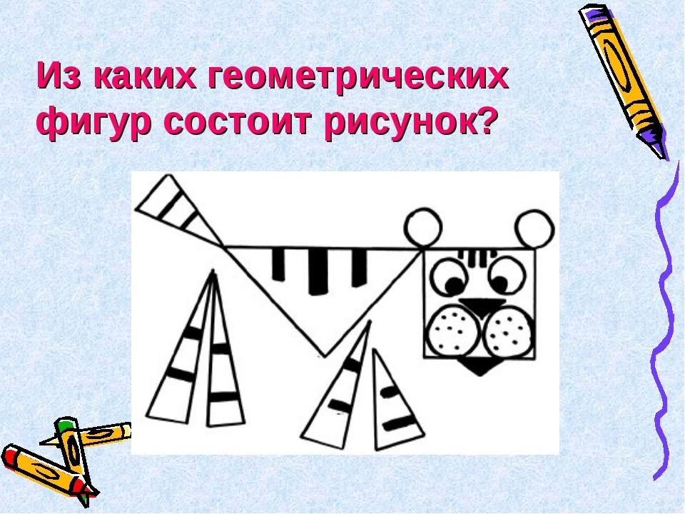 Из каких геометрических фигур состоит рисунок?