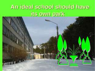 An ideal school should have its own park