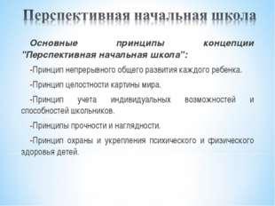 """Основные принципы концепции """"Перспективная начальная школа"""": Принцип непрерыв"""