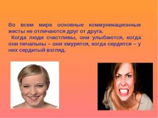 Во всем мире основные коммуникационные жесты не отличаются друг от друга. Ког