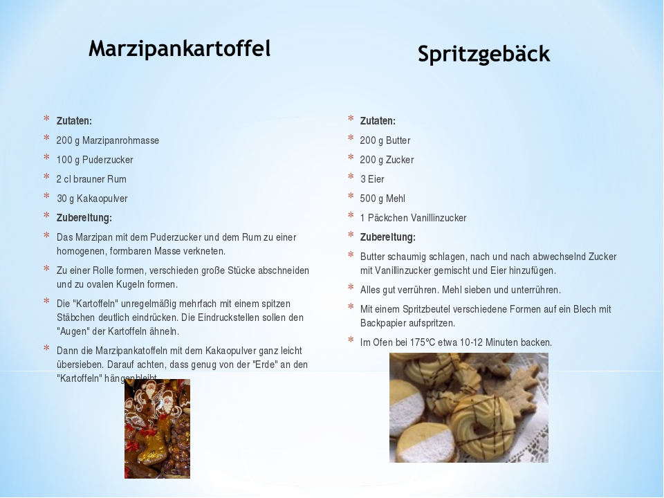 Zutaten: 200 g Marzipanrohmasse 100 g Puderzucker 2 cl brauner Rum 30 g Kakao...