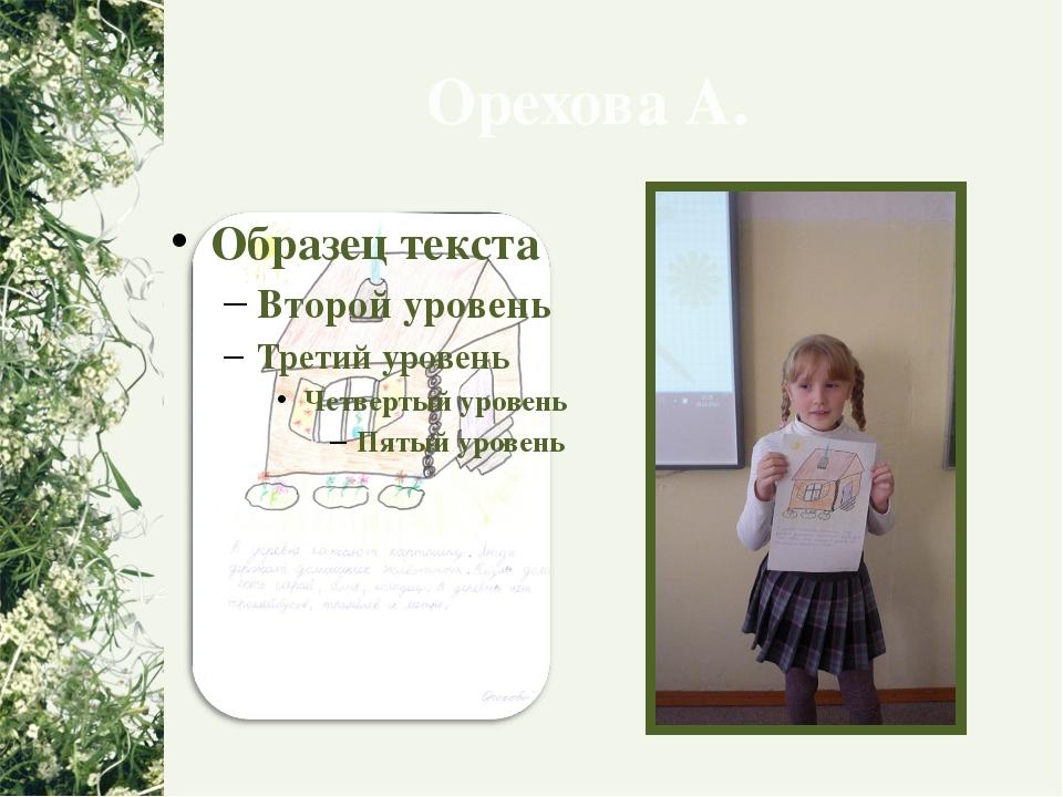 Орехова А.