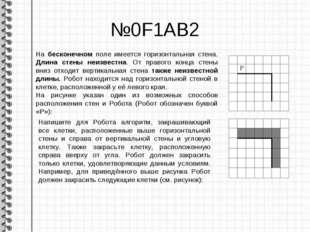 №0F1AB2 На бесконечном поле имеется горизонтальная стена. Длина стены неизвес