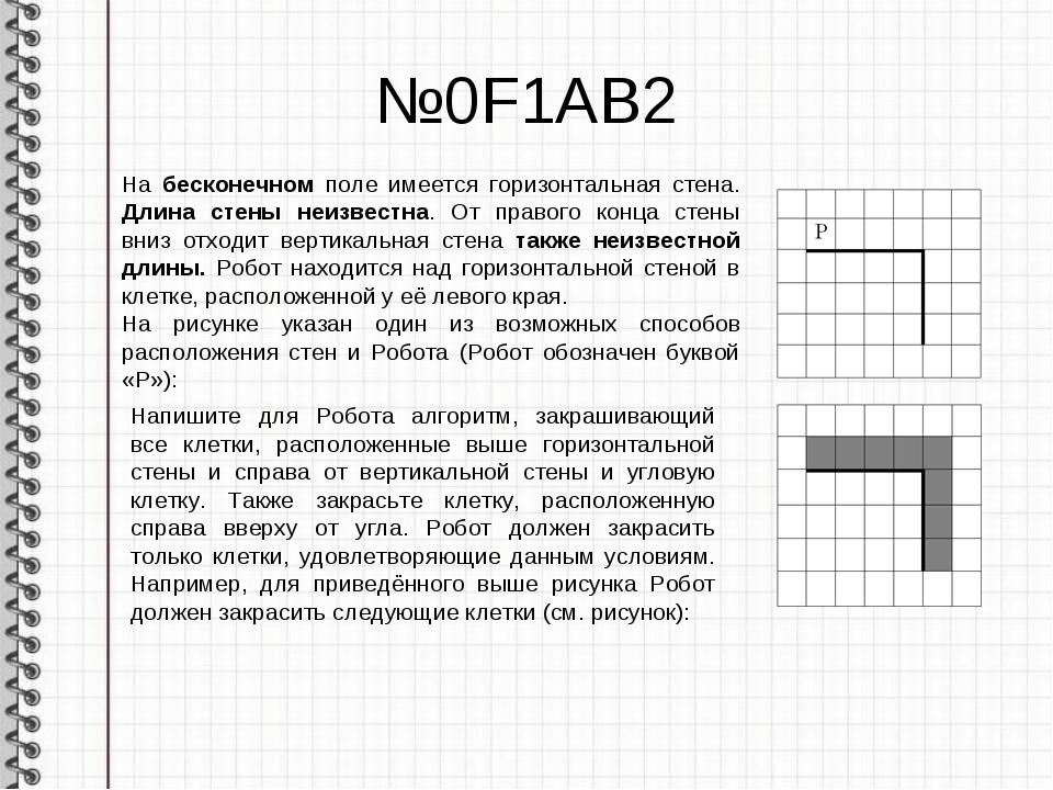 №0F1AB2 На бесконечном поле имеется горизонтальная стена. Длина стены неизвес...
