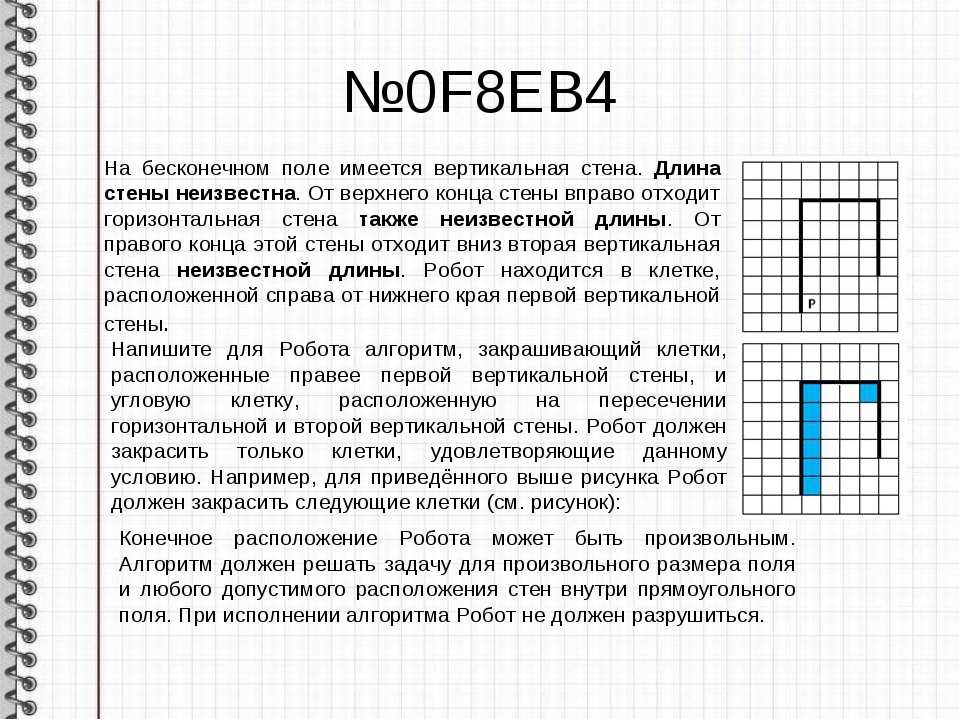 №0F8EB4 На бесконечном поле имеется вертикальная стена. Длина стены неизвестн...