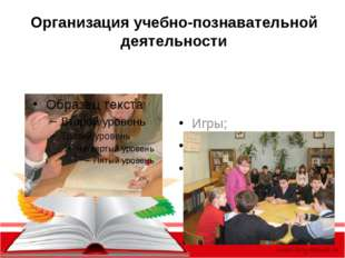 Организация учебно-познавательной деятельности Игры; Олимпиады; Предметные де