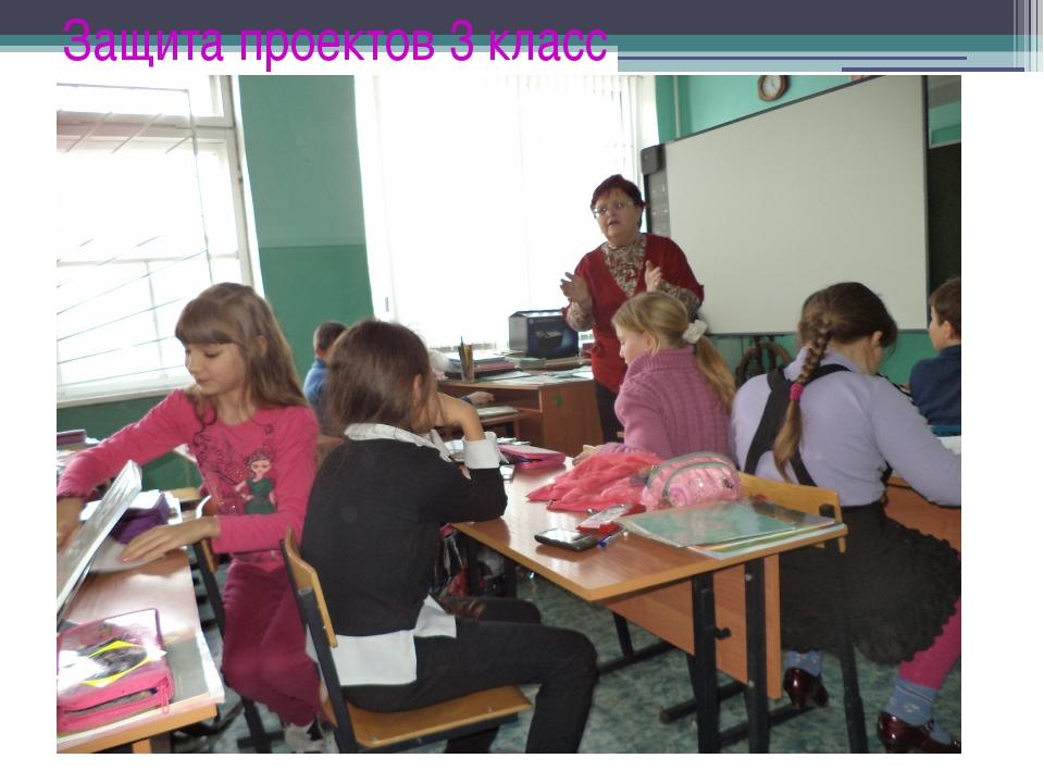 Защита проектов 3 класс