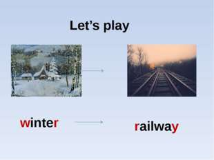 Let's play winter railway
