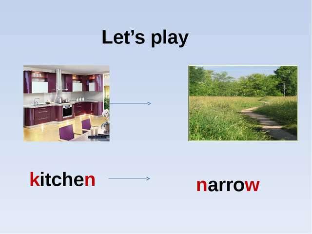 Let's play kitchen narrow