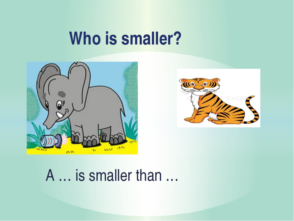Who is smaller? A … is smaller than …