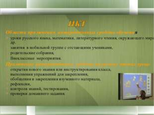 Области применения интерактивных средств обучения уроки русского языка, матем